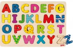 Bilde av Alfabet puslespill i tre, Goki