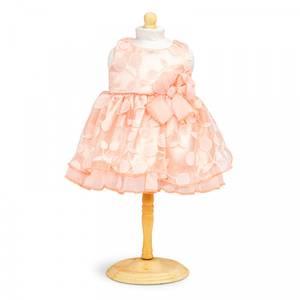 Bilde av Dukkeklær, kjole fersken str 38-41 cm